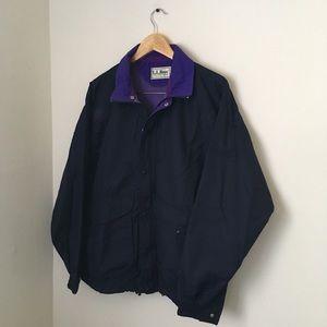 Vintage Navy blue and purple l.l bean windbreaker